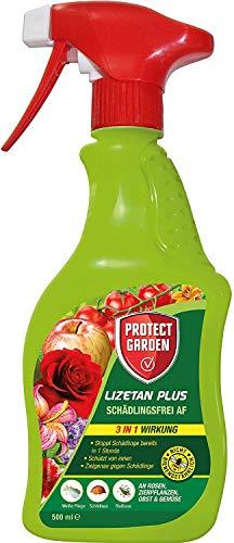 PROTECT HOME Lizetan Plus Schädlingsfrei AF Langzeitschutz gegen Blattläuse, Schildläuse und weitere Schädlinge an Rosen, Zierpflanzen, Obst und Gemüse, 500 ml,...