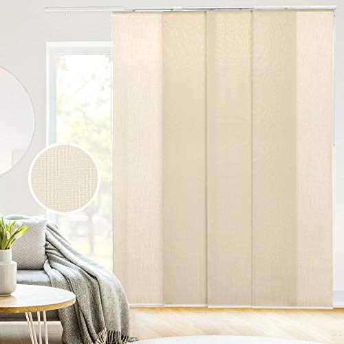 CHICOLOGY Adjustable Sliding Panels, Perfect Privacy Vertical Blinds for Large Windows and Decor Trimmable Length, Track Width X 96
