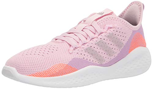 adidas Women's Fluidflow 2.0 Running Shoes, Clear Lilac/Silver Metallic/Clear Pink, 7