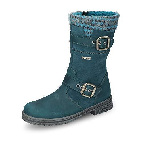 Däumling Däumling Mädchen Alia Kurzschaft Stiefel, Blau (Denver Petrol 50), 32