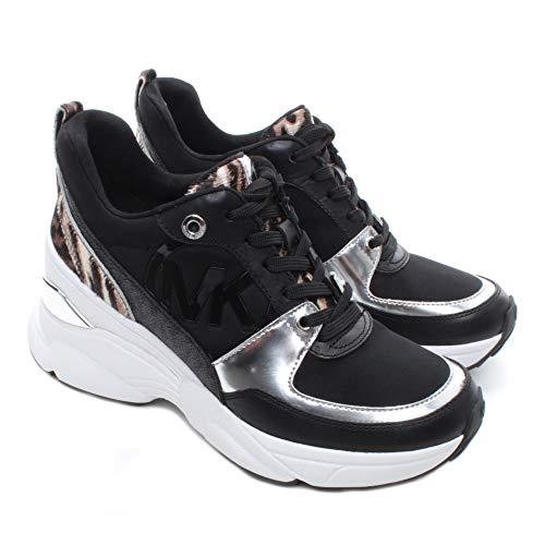 Sneakers Mujeres MICHAEL KORS 43F9MKFS8D Mickey Cuero Tejido Negro