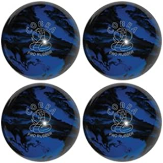 EPCO Candlepin Bowling Ball- Cobra Pro Rubber, Blue & Black Four Ball