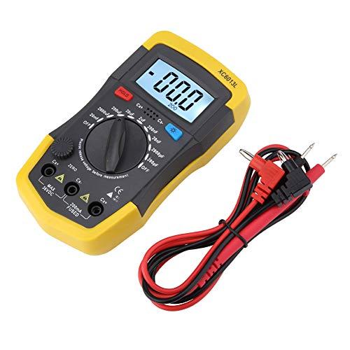 Medidor de capacitancia digital LCD Rango de medida 0.1pF a 20000uFC Probador de capacitores Condensador digital LCD mF uF Circuito Gau