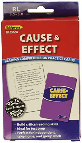 Edupress Reading Comprehension Practice Cards, Cause & Effect, Green Level (EP63402)