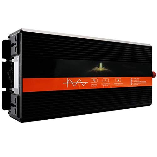 LeiQuanQuan Inversor De Energía De Onda Sinusoidal Pura, Pantalla Inteligente LCD DC12V 24V 48V 60V A AC 220V 5000W 6000W 8000W Silent Dual Fan Adaptador De Corriente Booster (Power : 12v-220v 6000w)