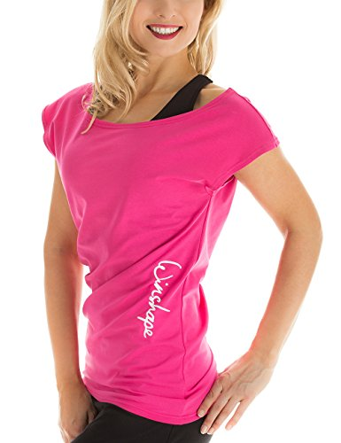 WINSHAPE - Fitness-T-Shirts für Damen in Pink, Größe M