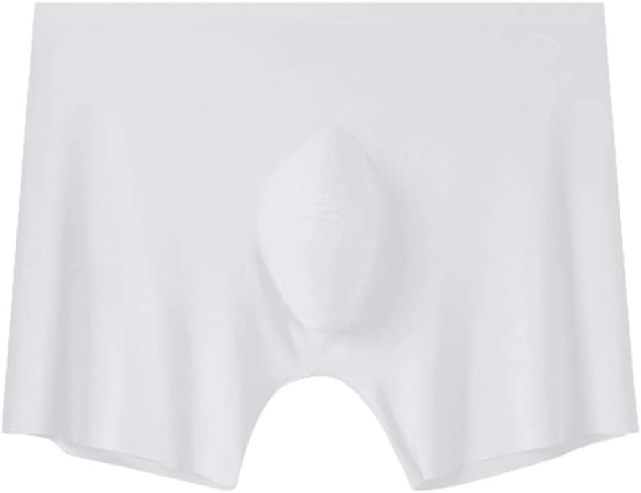 Men's Seamless Breathable Underwear Ice Silk Boxer Briefs Sexy Low Rise Trunks
