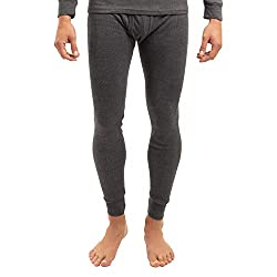 MT men's ski and thermal underpants - warm winter underwear with inner fleece - anthracite XXL