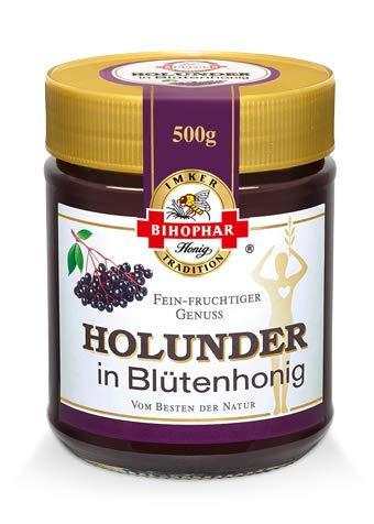 BIHOPHAR – Holunder in Blütenhonig I 500 g Honig