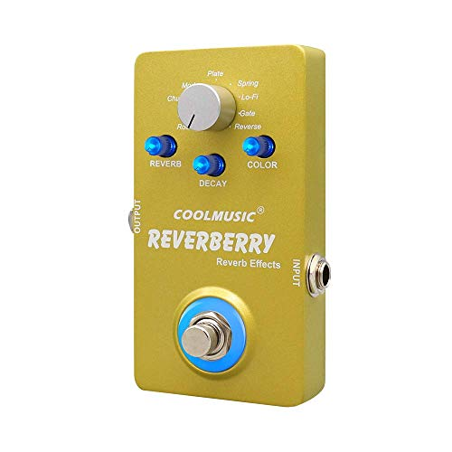 Coolmusic Reverberry Digital Reverb Gitarre Effektpedal mit 9 Effekten