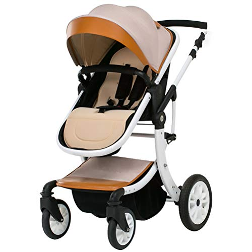 Best Prices! ZZLYY 2 in1 Luxury Newborn Baby Stroller for Infant Folding Convertible Baby Carriage,B...
