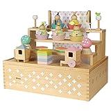 プーカのひなにんぎょう HAKO ハコ Puca 雛人形 収納飾り 五人飾り コンパクト ミニ 木製ひな人形 積み木