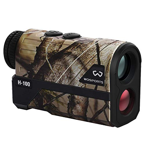 WOSPORTS Hunting Range Finder, Upgraded Battery Cover - Laser Rangefinder for Archery Bow Hunting with Ranging, Flagpole Lock, Speed - Free Battery (650 Yards)