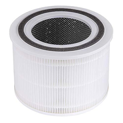 LEVOIT Filtro de Repuesto para Purificador de Aire Core 200S, Filtro HEPA H13, Filtro de Carbón Activado de Alta Eficiencia y Prefiltro, contra Alergias, Humo, Polvo y Polen, Core 200S-RF