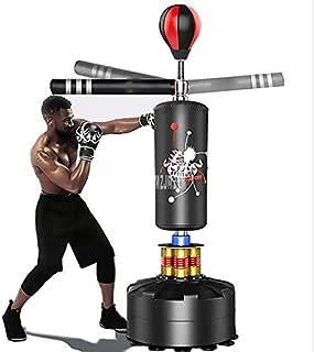 GRXIN Actualización Sacos De Arena De Boxeo Adulto Sólido Boxeo Rotativo Reacción Vertical Objetivo Familia Fitness Equipo Virtual Equipo De Ejercicio Saco De Boxeo para Adultos,Negro