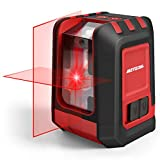 Laser Level, Meterk 49FT Red Cross Line Laser Level Self Leveling with Brightness Adjustment, 360° Magnetic Base, Battery Included, Laser Levels for Construction