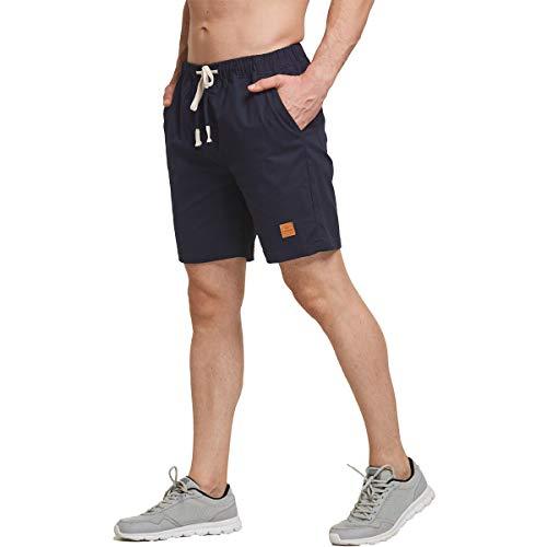 Tansozer Kurze Hosen Herren Bermuda Shorts Herren Sommer mit Gummizug Blau XL