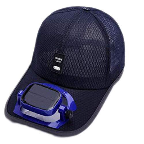 Gebläsekühlung Baseball Hut Cap Solar USB Dual-Aufladung draussen Schatten Sonnenschutzmittel Sportreisehut, 5 Farben (Color : #1, Size : Head Circumference (56-62cm))