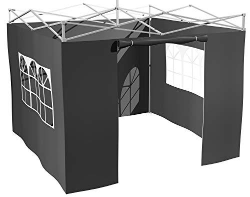 Grillfürst Seitenwände für 3x3m Grillpavillon/Gartenpavillon/Grillzelt 4er Set
