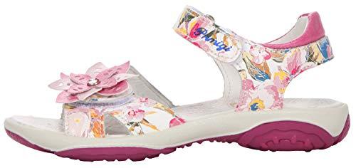 PRIMIGI Sandalias de piel para niña, color blanco y floral