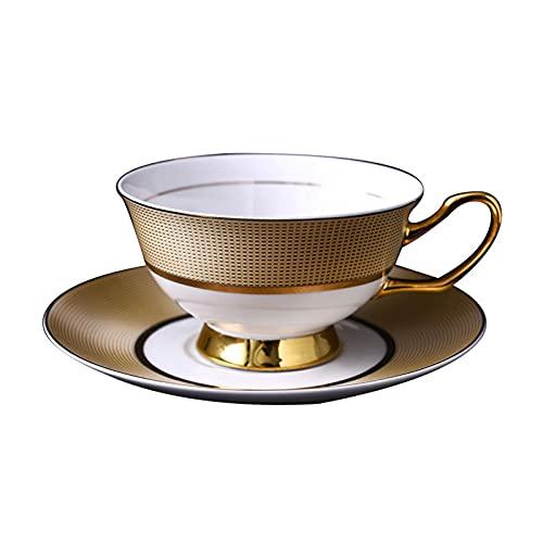 Juego de tazas de café europeas de porcelana de hueso y platillo Set de taza de té de la tarde británica taza de regalo creativo