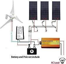 ECO LLC 850W Hybrid Solar-Wind Kit 400W Wind Generator Kit & 3x150W Solar Panel & 1KW Inverter