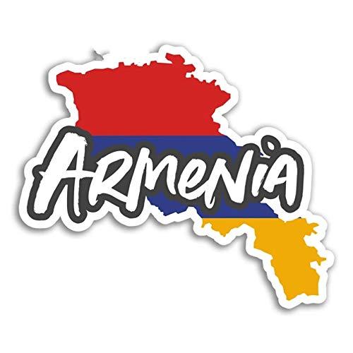 GDYL Etiquetas Engomadas del Coche Mapa De Armenia Pegatina De Vinilo para Coche BanderaEquipaje DeViajeAplique Impermeable Parachoques Coche Calcomanía Impermeable 13 * 13 Cm