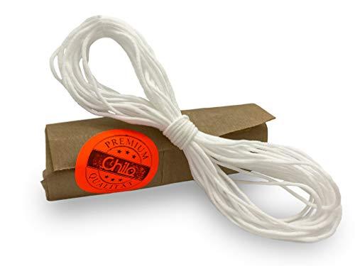 Chilo ® Gummiband zum Nähen 10m - super weich - rund 3mm Gummi für Mundschutz, Maskenband Masken selber nähen und basteln, Gummi für Masken