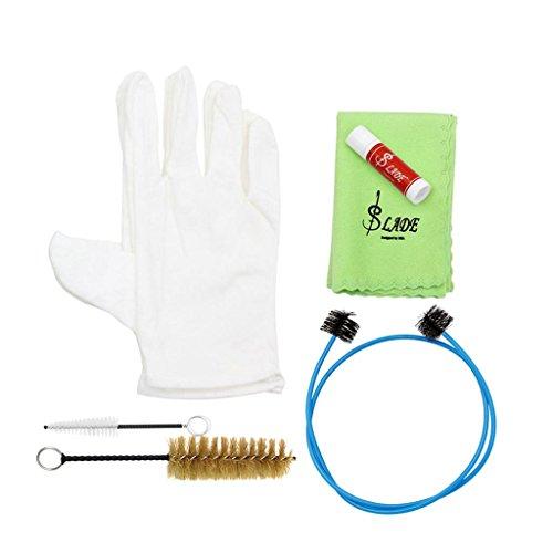 6 In 1 Messing Instrument Reinigung Pflege Kit Bürsten Handschuhe Tuch Öl Zubehör