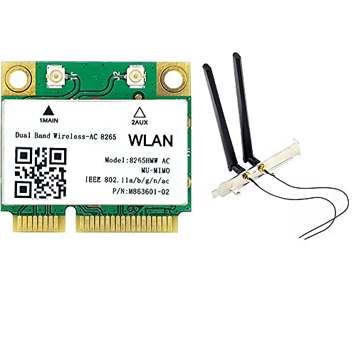 Adaptador de red inalámbrico, Intel 9260 de doble banda 2.4/5 GHz 802.11ac tarjeta de red M.2 NGFF/PCIe adaptador WiFi Bluetooth 4.2 PCI Express para portátil y PC de escritorio
