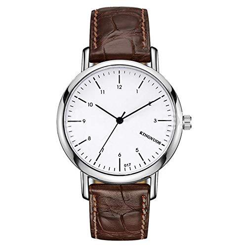 ZSDGY Elegante Reloj de Cuarzo Ultra Delgado para Hombres y Mujeres, Reloj de Correa de Doble Escala para Parejas A