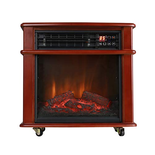 Caesar Fireplace FP404R-QC Freestanding Electric Fireplace Stove