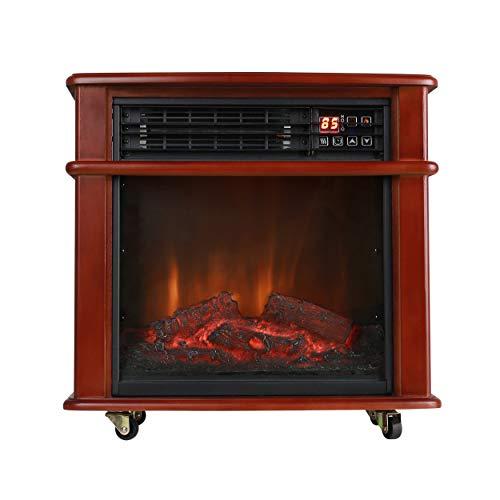 Caesar Fireplace FP404R-QC Freestanding Electric...