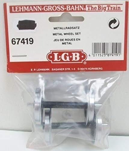 LGB – 2 Stück Metall-Scheibenradsatz – L67419, Ersatzräder für Lokomotiven und Wagen, Ersatzteile, Metallrad, Spur G