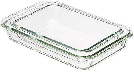 Amazon Basics Glass Oblong Oven Safe Baking Dishes Set of 2 product image