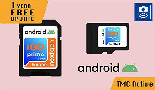 Licensed MicroSD Card with Android GPS Navigation Software iGO Primo NextGen 3D Maps EUR/RUS/TUR/for PKW/Truck/Camper/ 1 Year Free Maps Update