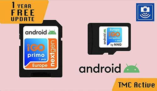 Scheda MicroSD con software di navigazione GPS iGO Primo NextGen 3D Mappe EUR/RUS/TUR/per PKW/Camper/Camper/1 anno di aggiornamento delle mappe