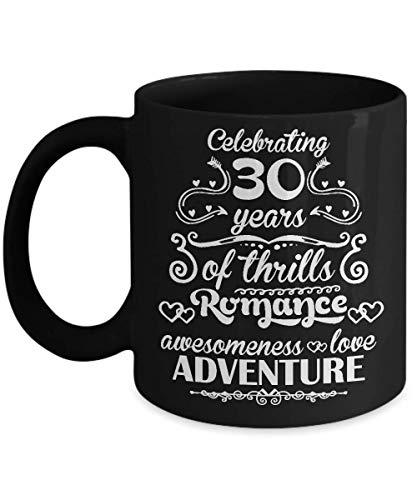 Egoa Coffee Mug 30-jarige jubileum feest 30 jaar zenuwkitel romantiek awesomeness Love Adventure beste jubileum zwart kantoor keramische mok houdbaar porseleinen mok thee grappig nooit