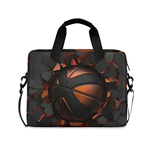 iRoad 15.6 Inch Laptop Bag Case Art Painting Basketball Print Computer Case Laptop Sleeve Case with Shoulder Strap Bag for Women Men