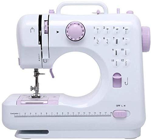 Máquinas de coser Máquina de coser portátil, el paso de la máquina de coser portátil, 12 de costura 2 turno de costura de alta resistencia mano electromecánico bordado bordado de máquina de coser over