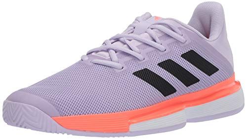 adidas Damen Solematch Bounce W Sneaker, Lila Tönung/Kern Schwarz/Signal Coral, 36 EU