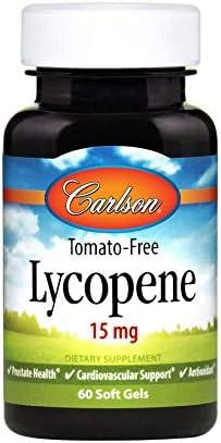 Carlson Lycopene 15 mg Tomato Free Prostate Health Cardiovascular Support Optimal Wellness 60 product image