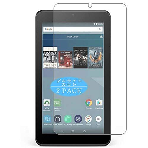 VacFun 2 Pezzi Anti Luce Blu Pellicola Protettiva, Compatibile con Barnes & Noble Nook Tablet 7 7inch (Non Vetro Temperato) Protezioni Schermo Cover Custodia New Version
