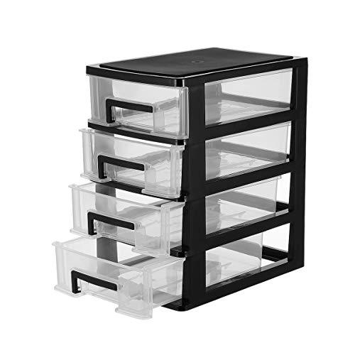 FAVOMOTO Organizador de Cajones de Escritorio Unidad de Cajones de Plástico Apilable Gabinete de Almacenamiento de Plástico Cajón Caja de Almacenamiento Estante para Dormitorio de Oficina