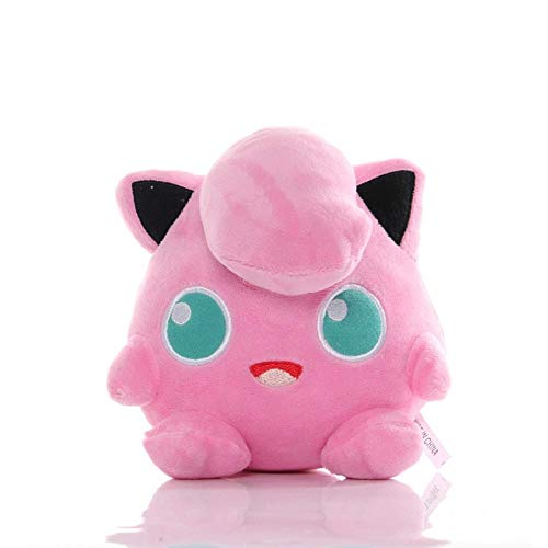 OHHAPPY Stuffed Animal - 16cm Jigglypuff Anime Plush Toy Comfortable Sofa Pillow Cushion Cartoon Pokemom Figures PP Cotton Stuffed Soft Doll for Boy and Girls Christmas Birthday Gift.