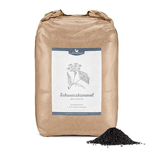 Krauterie Schwarzkümmel-Samen ganz in Spitzenqualität für Pferde & Hunde, frei von Zusätzen (2000 g)