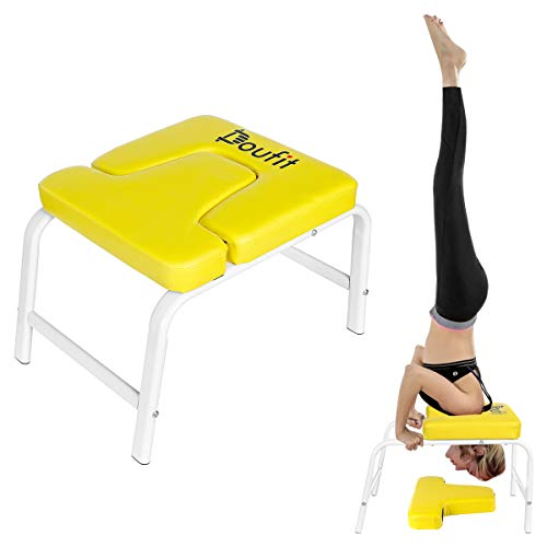Doufit Yoga Headstand Bench, IT-04 Inversion Chair for Family,Stable and Non-Slip, Perfect Fitness Stool for Both Beginner and Experience Yogis