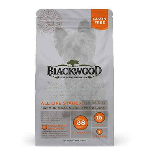 Blackwood Pet Food 22322 All Life Stages, Special Diet, Grain Free, Salmon Meal & Field Pea Recipe, 15Lb.
