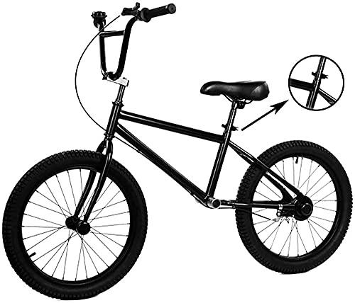 Bicicleta de Equilibrio para Adultos y niños con Freno, Asiento Ajustable, Ruedas de 50 cm (20 Pulgadas), Bicicleta Negra de no Pedal