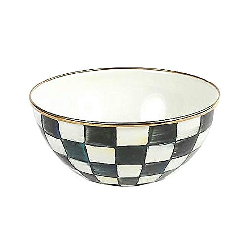 """MacKenzie-Childs Courtly Check Enamel Everyday Bowl - Small 7.75"""" dia., 3.5"""" tall (5 cups)"""
